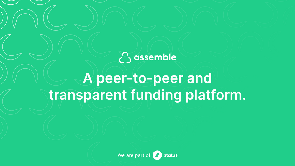 Introducing Assemble Beta – Decentralized, Open, Crowdfunding